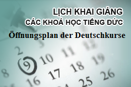 Link lịch khai giảng